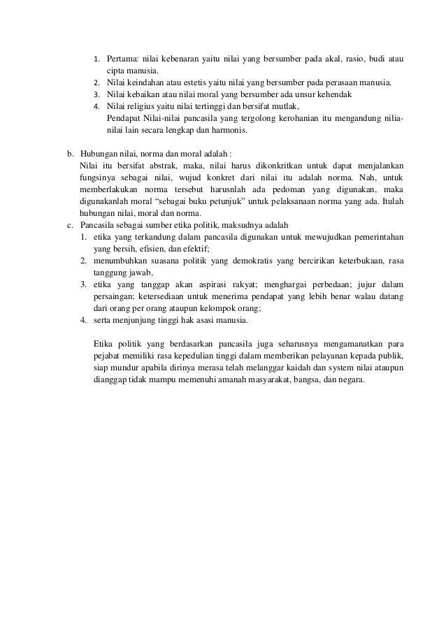 Soal Dan Jawaban Uts Mk Pancasila Prodi Adm Negara Semester Ganjil