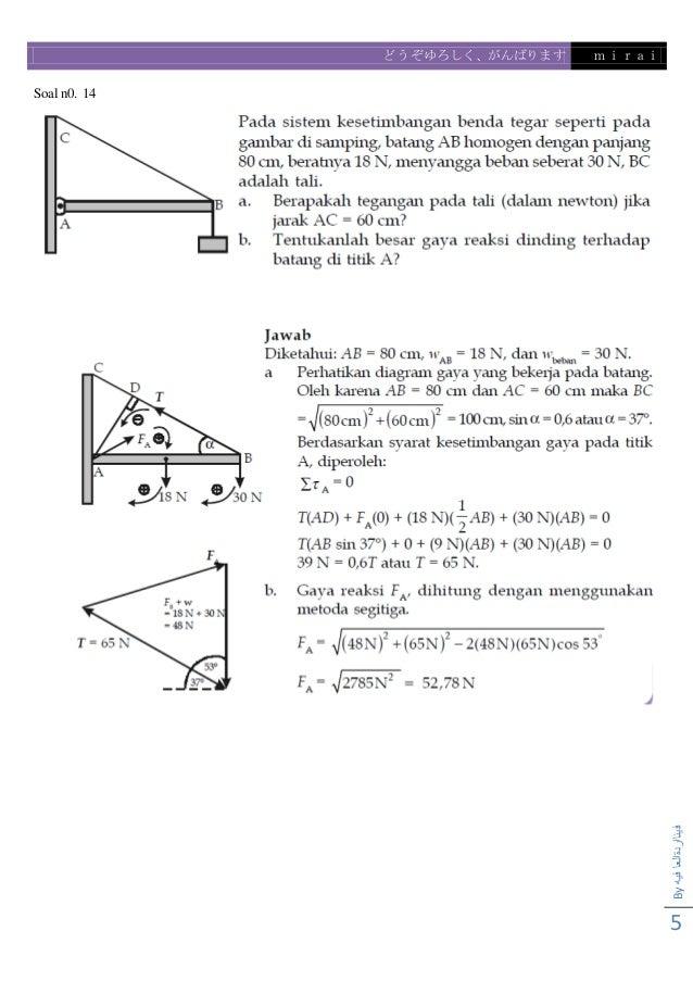 Contoh Soal Dinamika Rotasi Dan Kesetimbangan Benda Tegar Kumpulan Soal Pelajaran 3