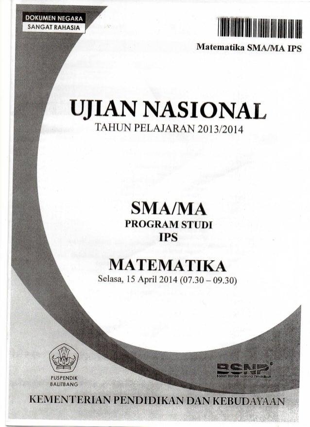Soal Dan Pembahasan Matematika Ips Un 2014