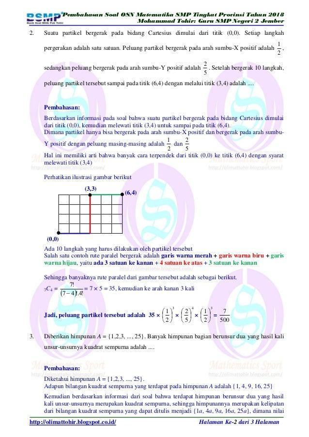 Contoh Soal Olimpiade Matematika Smp Kelas 8 Dan Pembahasannya Dapatkan Contoh