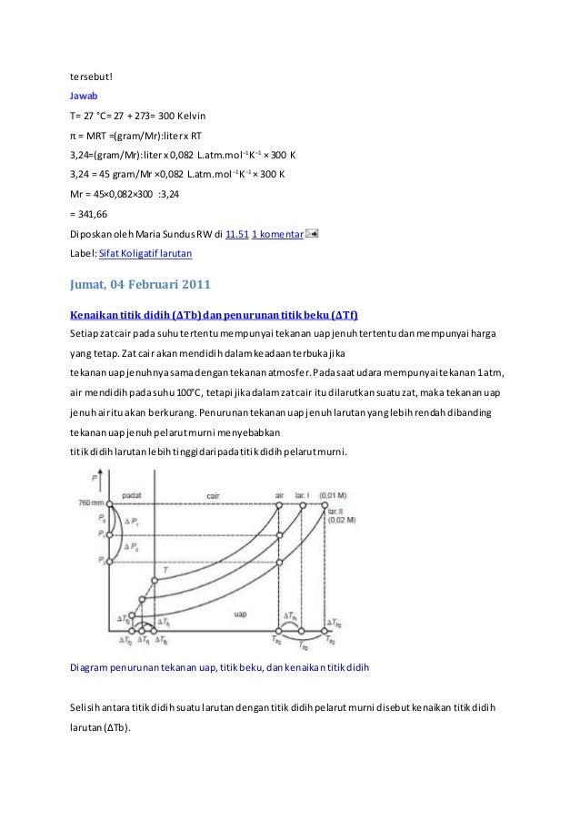 Soal dan pembahasan tekanan osmotik tentukanmassamolekul relatif zat 62 tersebut ccuart Images