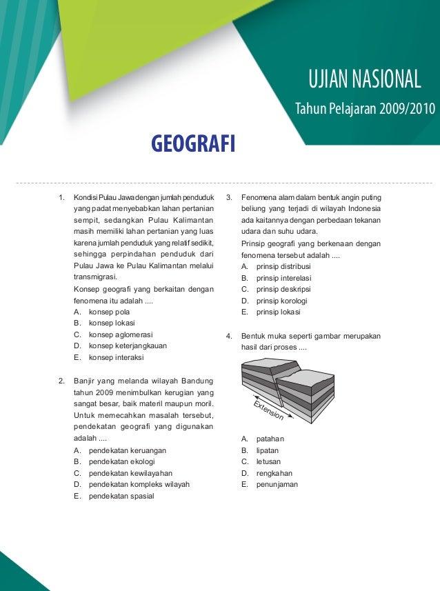 Soal Dan Pembahasan Un Geografi Sma Ips 2009 2010