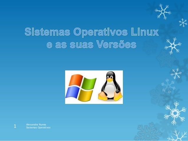 Alexandra Nunes Sistemas Operativos1