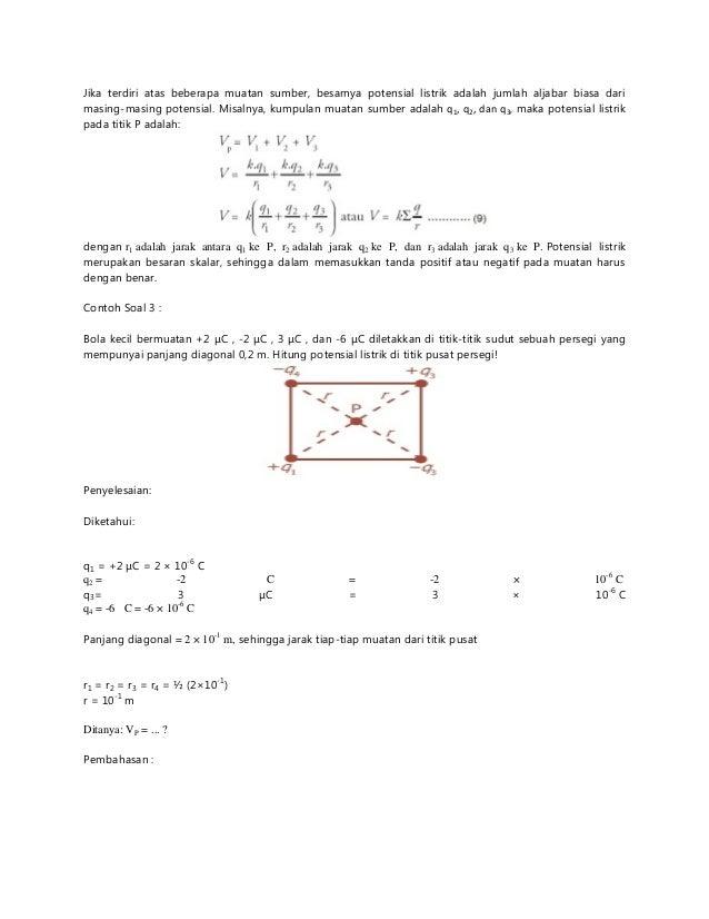 Soal Fisika Listrik
