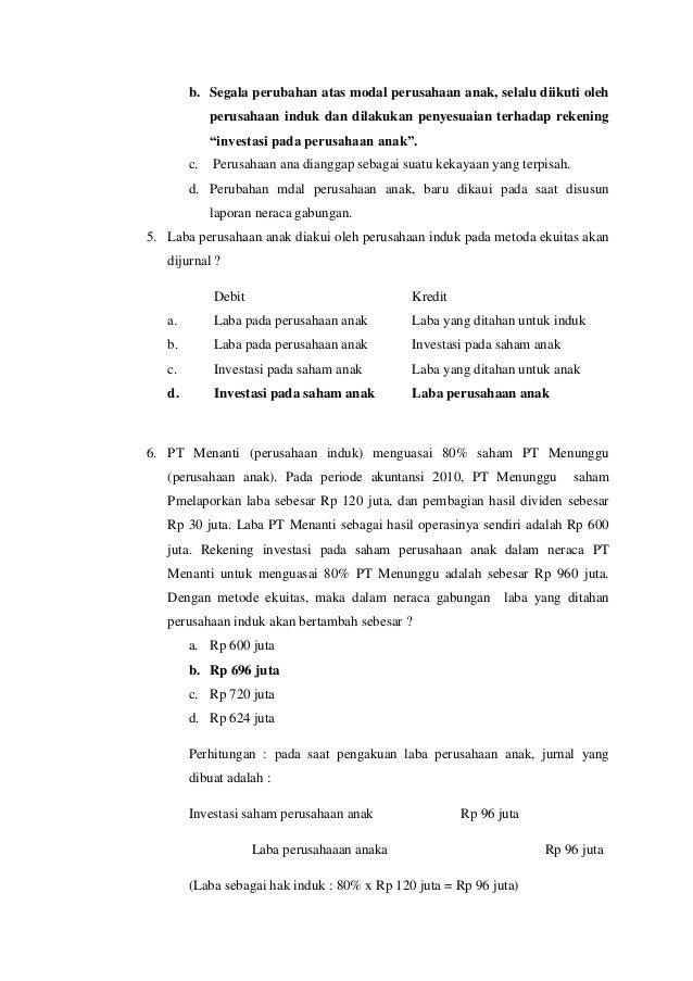Soal jawab akuntansi lanjutan 2 Slide 2