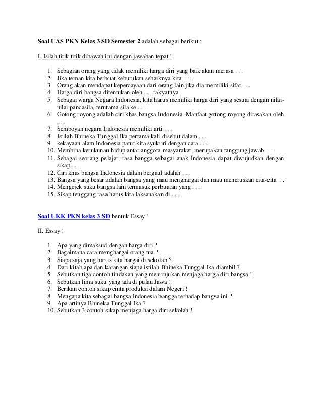 Most Wanted Soal Pkn Kelas 3 Sd Tentang Nilai Nilai Pancasila