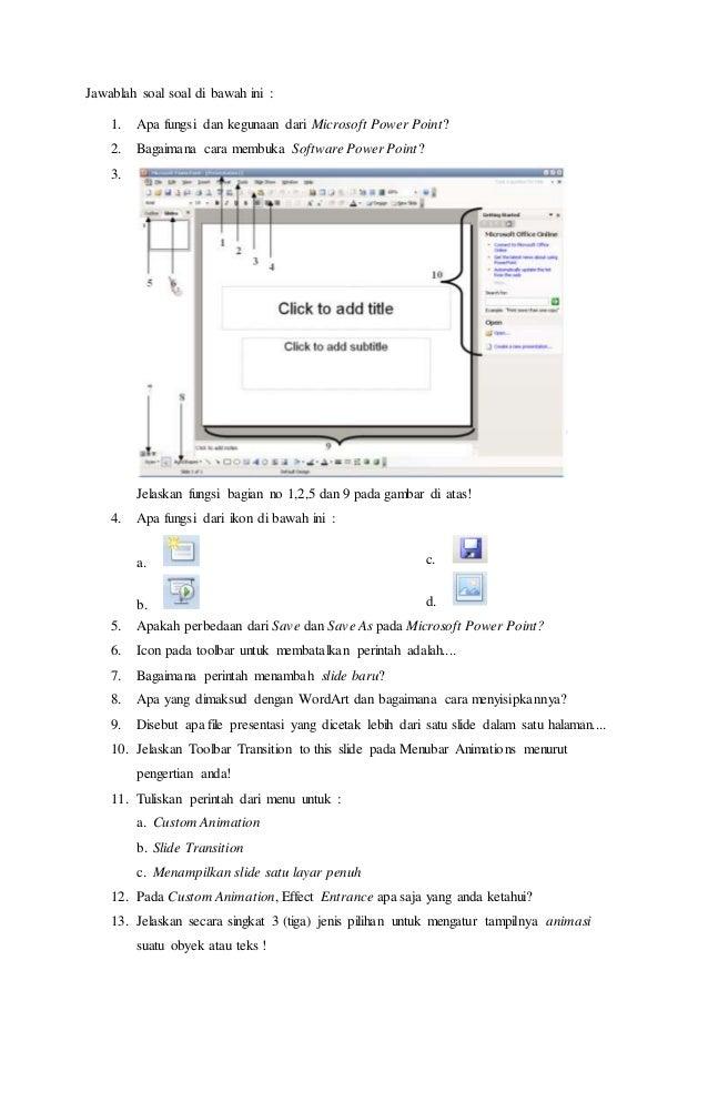 Soal kkpi ppt jawablah soal soal di bawah ini 1 apa fungsi dan kegunaan dari microsoft power ccuart Gallery