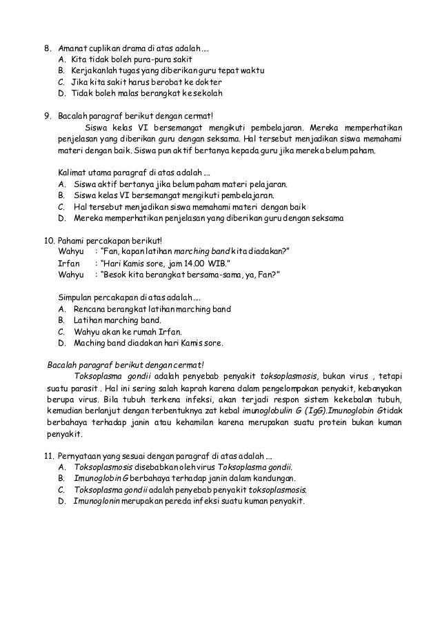 Download Soal Siswa Berprestasi Sd Dan Kunci Jawaban 2017 Guru Galeri