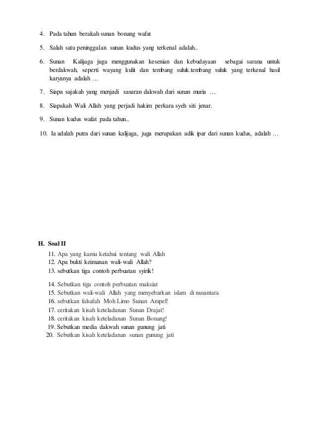 Soal Latihan Pengetahuan Kls 4 Smtr 2