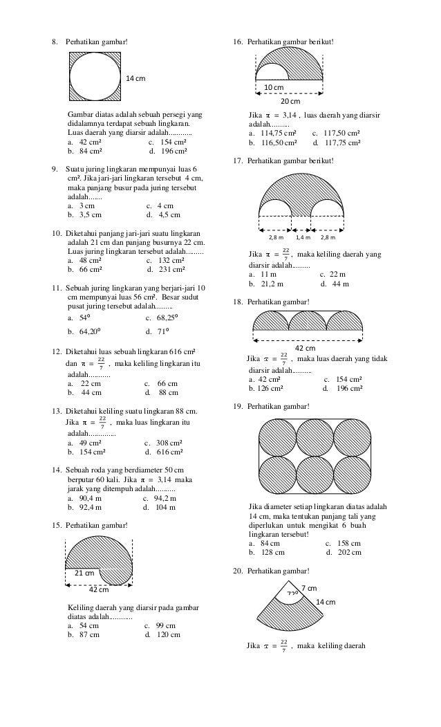 Soal Lingkaran