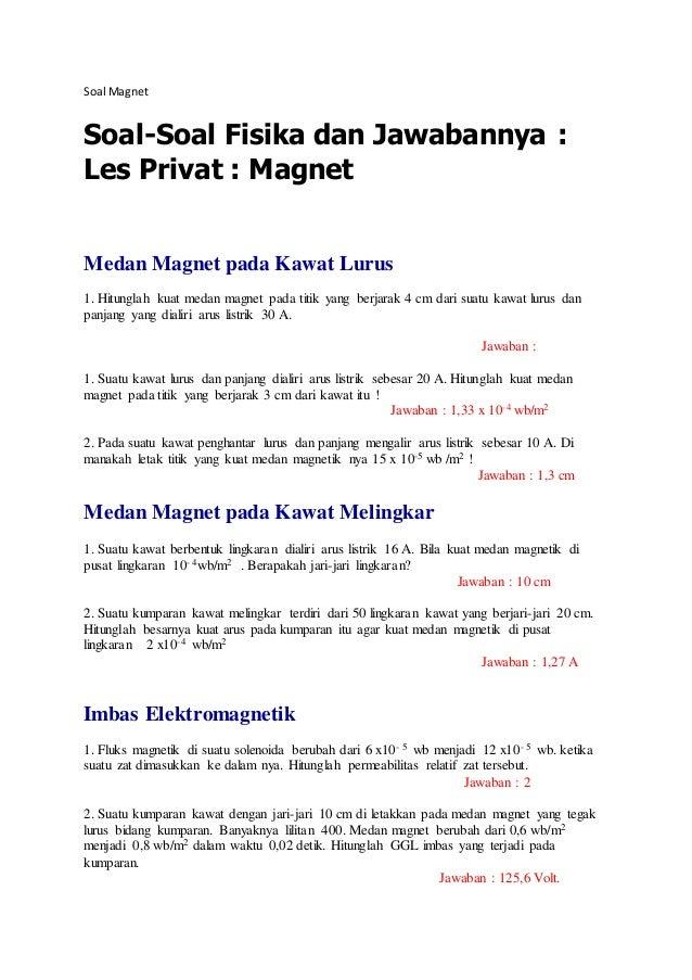 Soal Magnet