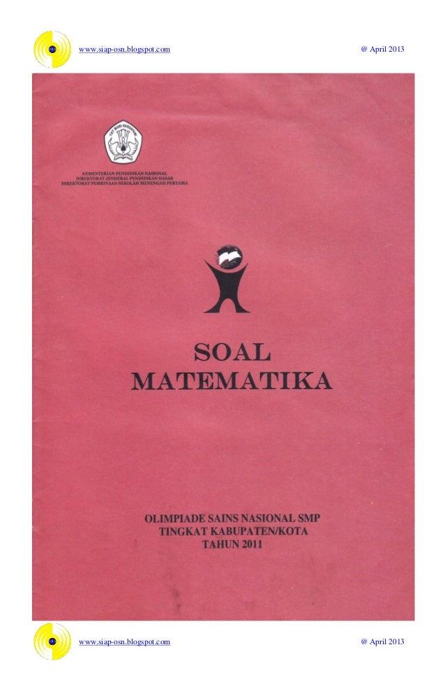 Soal Osn Matematika Smp 2011
