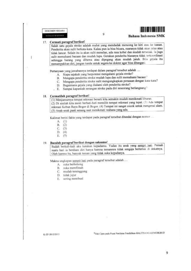 Soal Ujian Nasional Un Bahasa Indonesia Paragraf Foto Bugil Bokep 2017