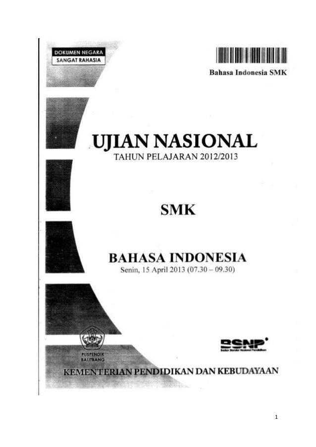 Soal Dan Pembahasan Un Bahasa Indonesia Smk