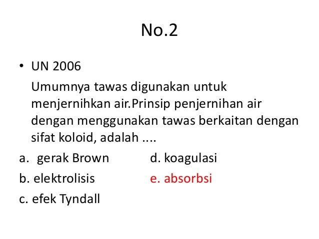 soal essay kimia tentang koloid