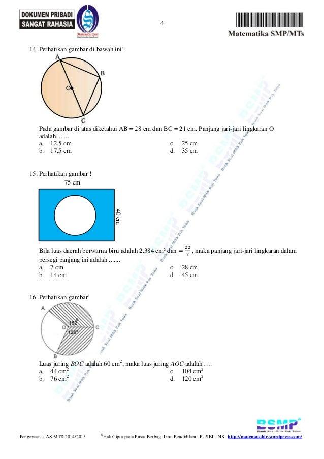 Soal pengayaan uas matematika kelas 8 semester genap 2015 ...