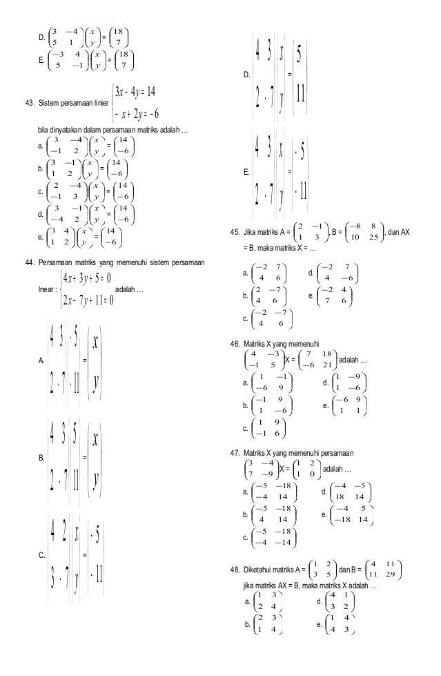 Soal Uan Matematika Ips 2006 2007