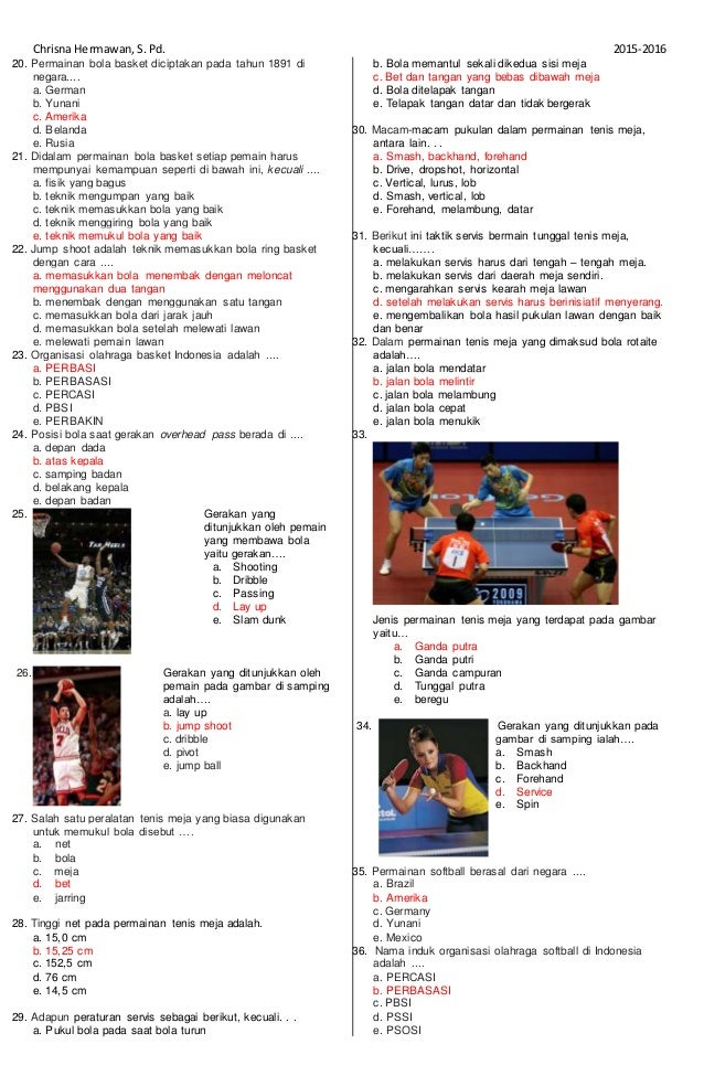 soal essay dan jawaban tentang bola basket