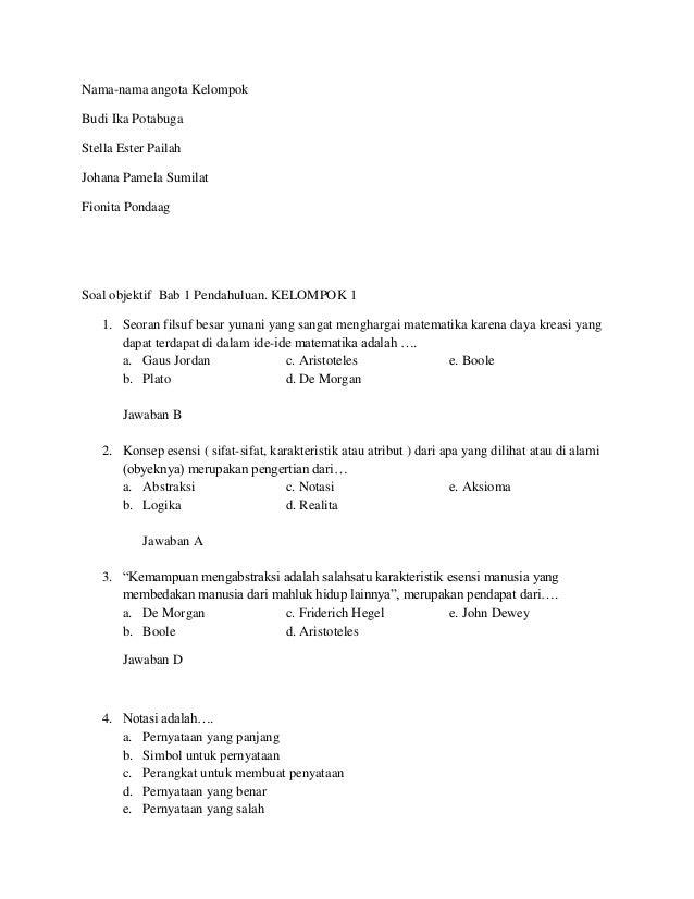 Contoh Soal Pilihan Ganda Generalisasi Car Scoop 17