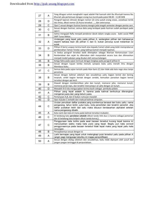 Contoh Soal Bahasa Inggris Snmptn Beserta Kunci Jawaban Ii Kunci Jawaban Bahasa Inggris Simulasi