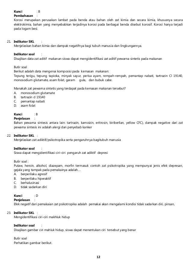 Soal Prediksi Un Ipa Smp Tahun 2014 Paket 2