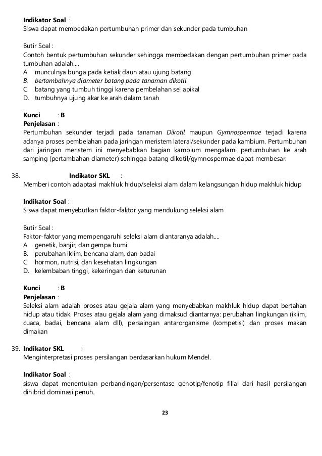 Soal Prediksi Un Ipa Smp Tahun 2014 Paket 3
