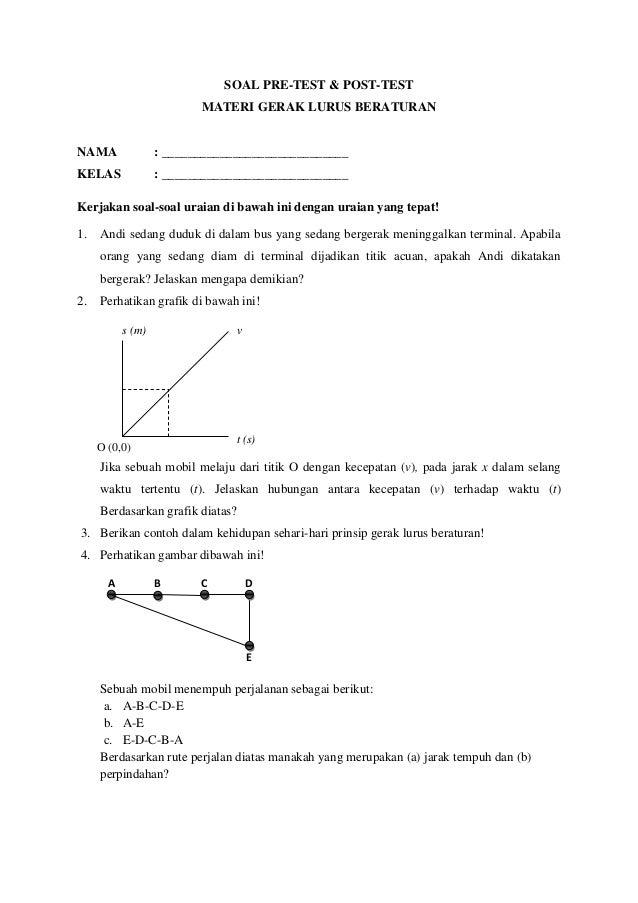 Contoh Soal Pre Test Pretest Pengembangan Download Lengkap