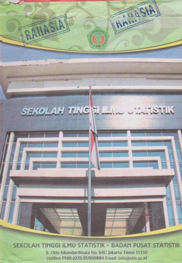 Soal Seleksi Stis 2015 2016 Pengetahuan Umum