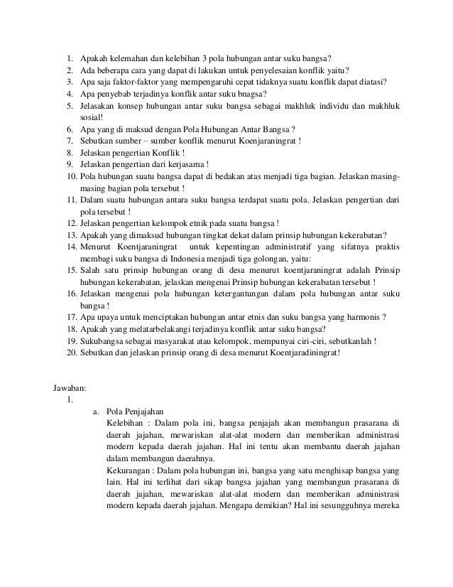 Kumpulan Soal Dan Jawaban Sosiologi Pedesaan Part 3