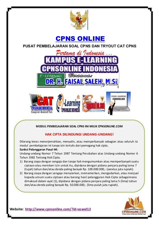 Soal Tes Wawasan Kebangsaan Twk Cpns