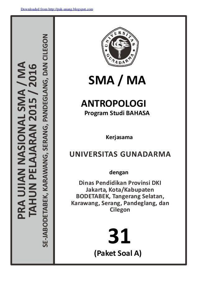 Soal To Un Antropologi Sma 2016 Kode A 31 Pak Anang Blogspot Com