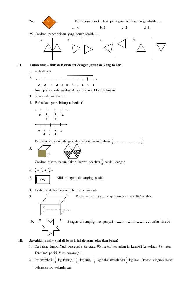 Soal ukk matematika kelas 4 a b c d xxv xxxvii 137 3 ccuart Choice Image