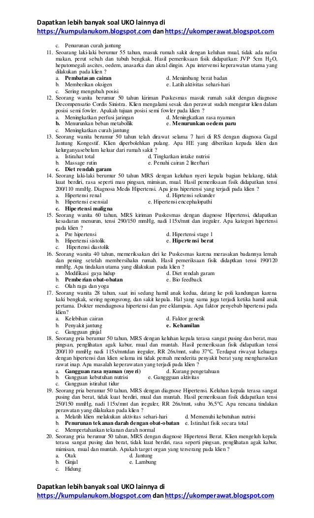 18+ Soal keperawatan medikal bedah 2 info