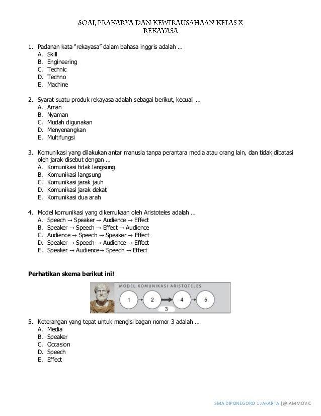 Contoh Soal Prakarya Kelas 10 Semester 1 Contoh Soal Terbaru