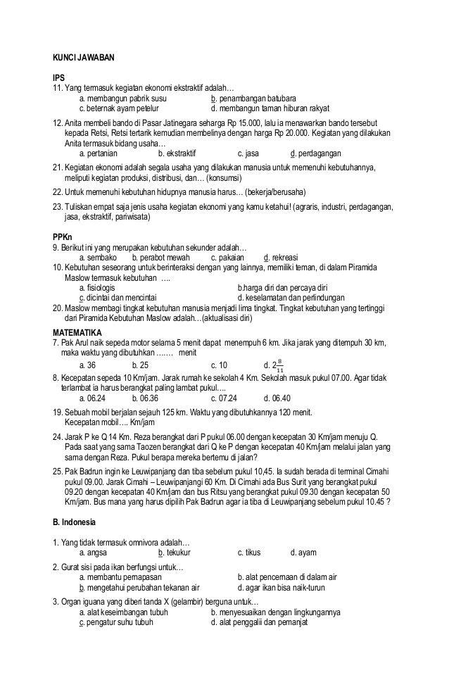 Jawaban Soal Matematika Tema Sd 6942064 Kumpulan Soal Ipa Sd Kelas 6 Motorcycle Review And