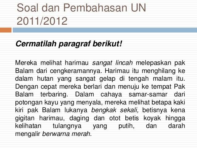 Soal Un Bahasa Indonesia Sma Tahun 2011
