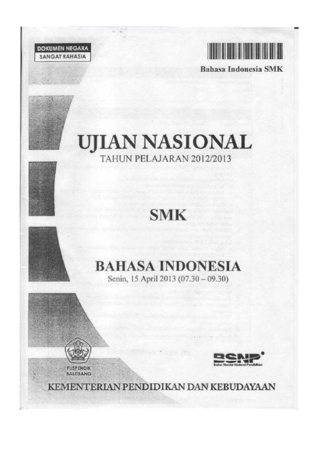 Soal Un Bahasa Indonesia Smk