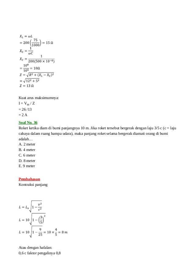 Soal Un Fisika 2013 Dan Pembahasannya