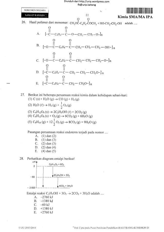 Soal Un Kimia Sma 2014 14