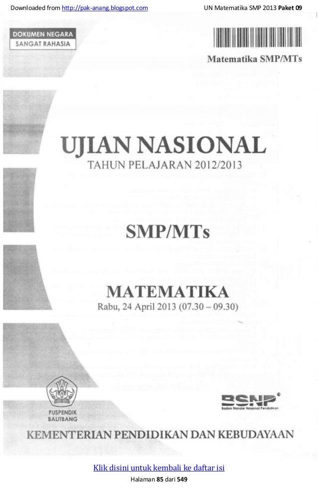 Soal Un Matematika 2013