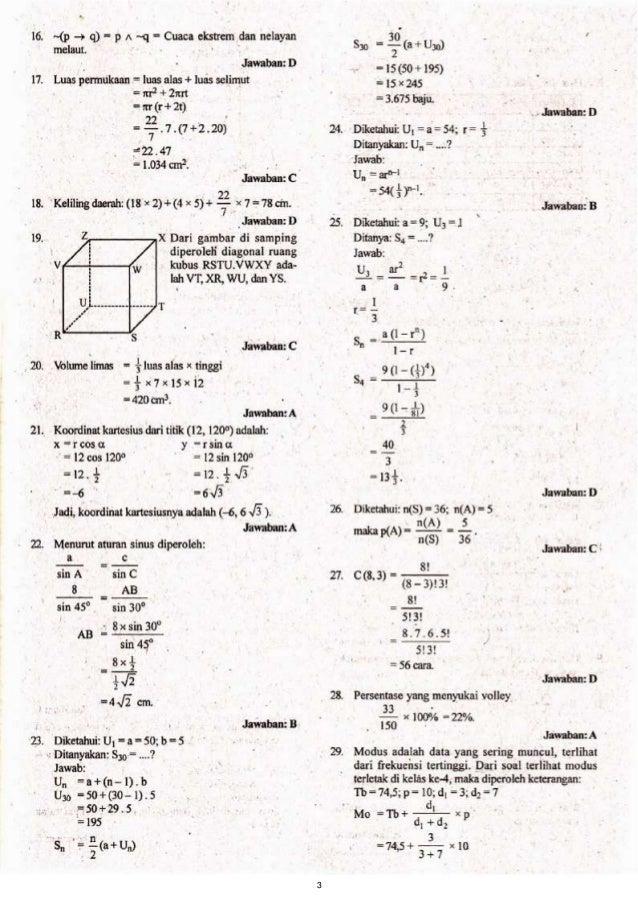 Latihan Soal Un Smp Matematika 2015 Pdf Download Pdf Kunci Jawaban Ujian Nasional Bahasa Inggris