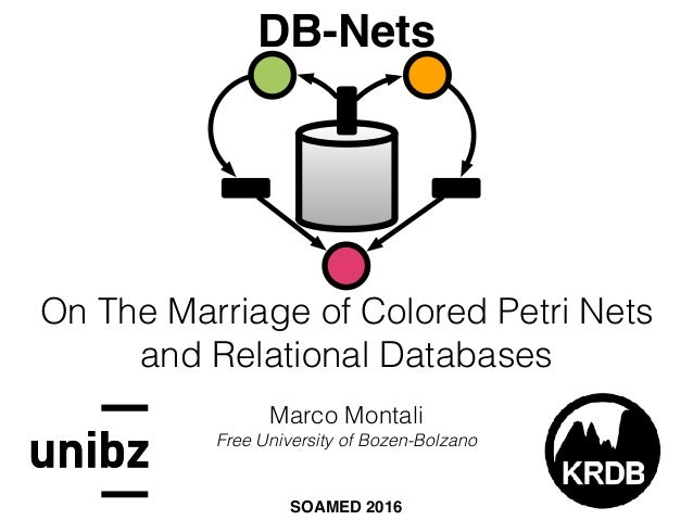 On The Marriage of Colored Petri Nets  and Relational Databases Marco Montali Free University of Bozen-Bolzano SOAMED 201...