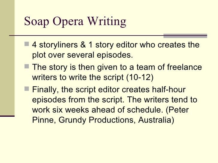 How to write a soap opera script sample