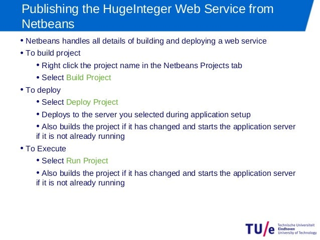 writing a web service A web service example: helloservice this example demonstrates a simple web service that generates a response based on information received from the client.
