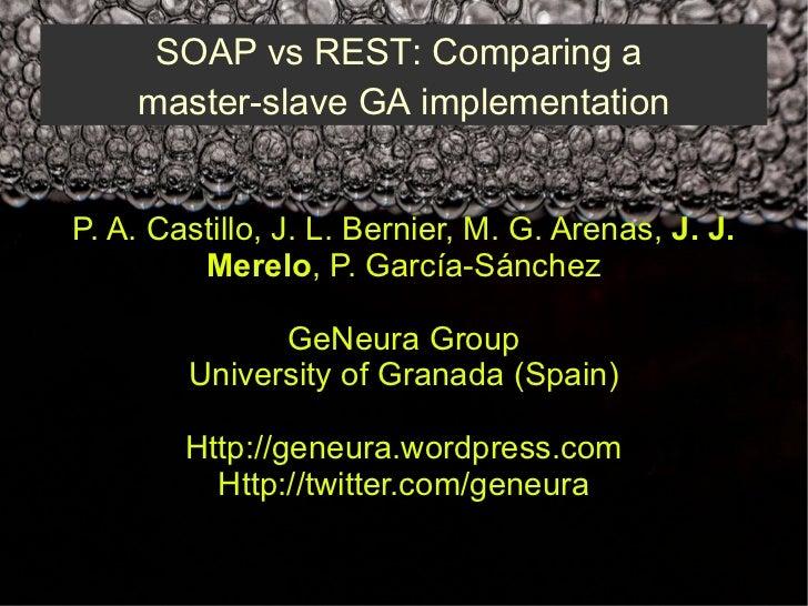 Soap vs rest comparing a master slave ga implementation - M a interiorismo cb granada ...