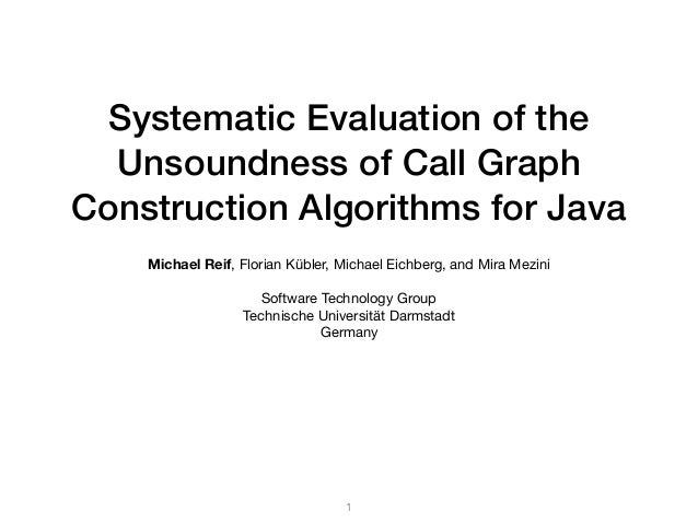 Systematic Evaluation of the Unsoundness of Call Graph Construction Algorithms for Java Michael Reif, Florian Kübler, Mich...
