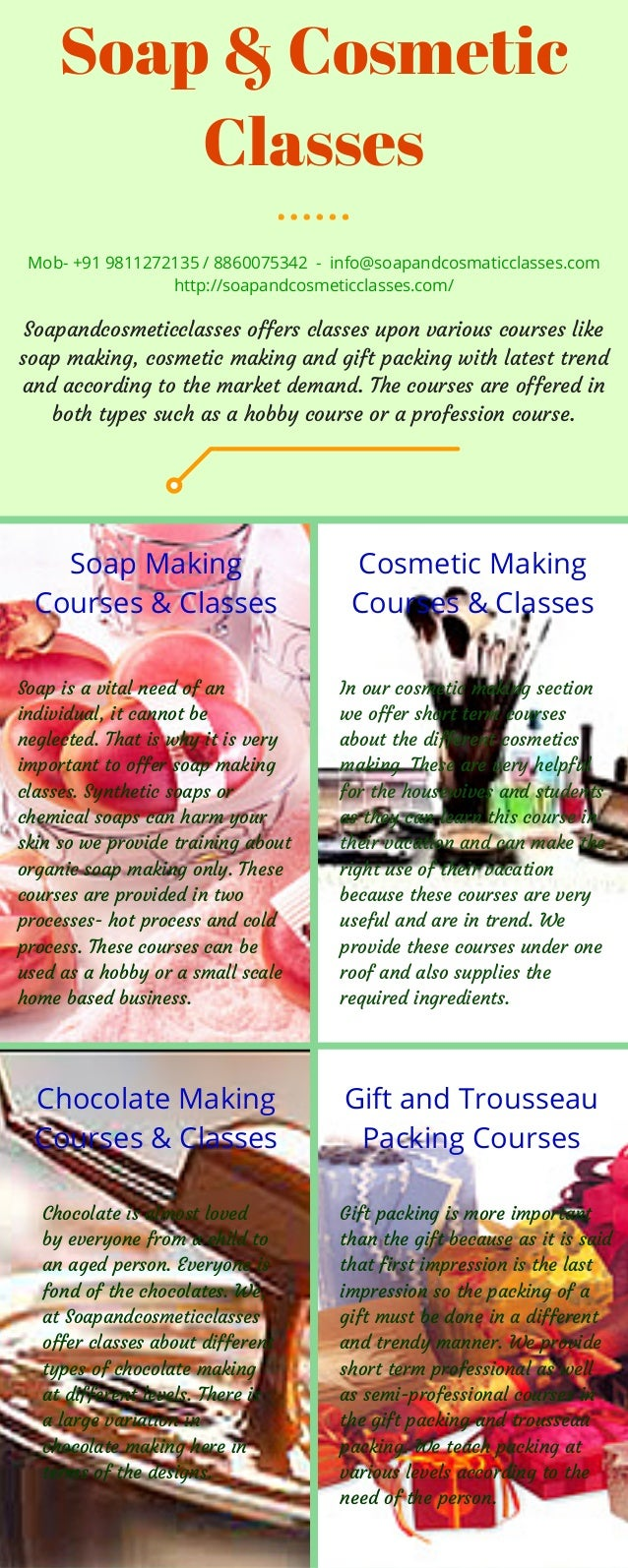 Professional Soap Making Classes India