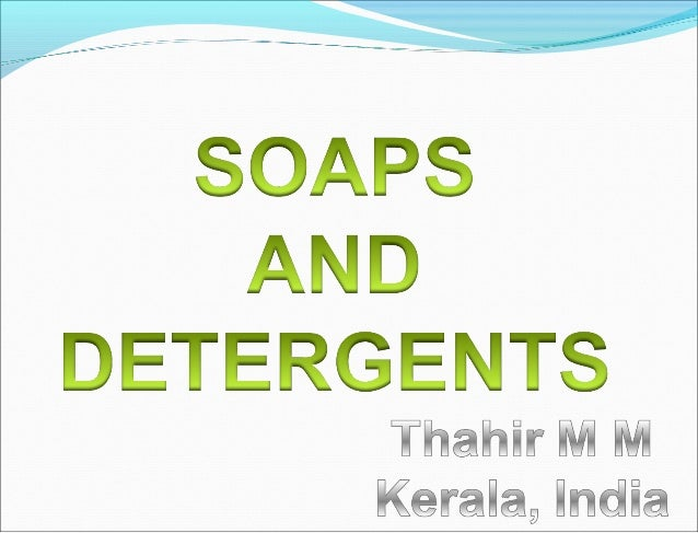 Making soaps and detergents