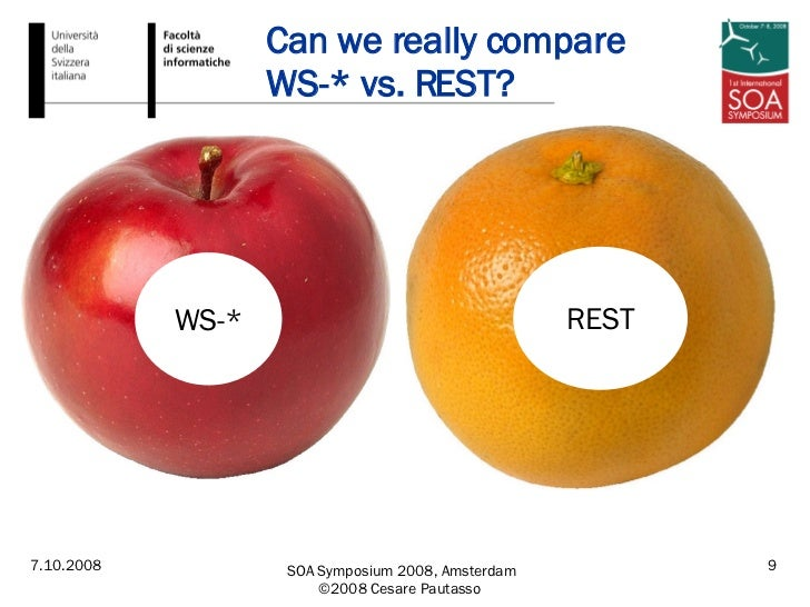 Can we really compare  WS-* vs. REST? WS-* REST