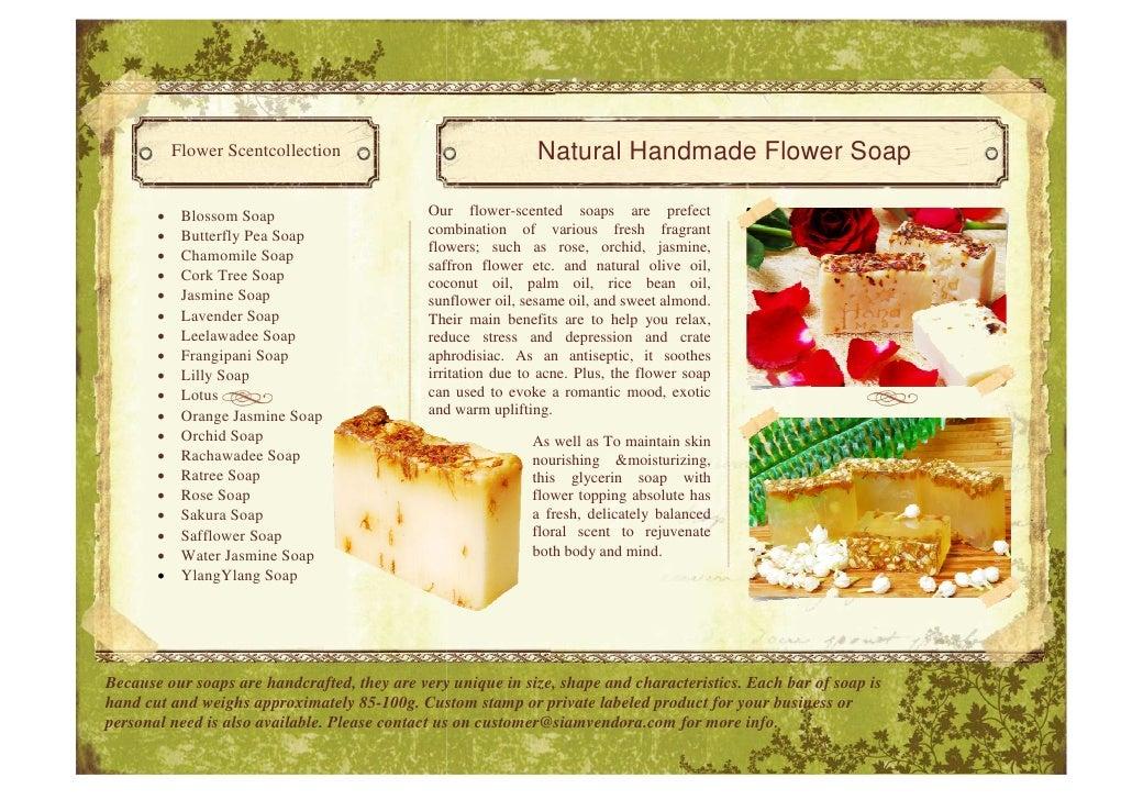 herbal soap product brochure